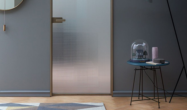 New Door with L7 Aluminium Jamb by Lualdi