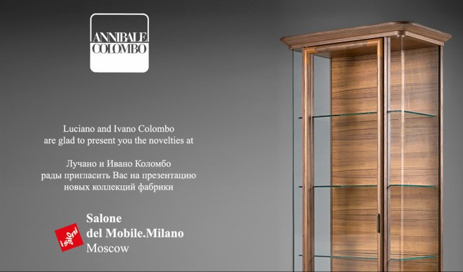 Annibale Colombo at Salone del Mobile.Milano Moscow