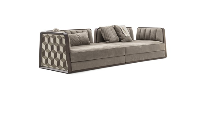 Balbiano Wood Sofa from Vittoria Frigerio