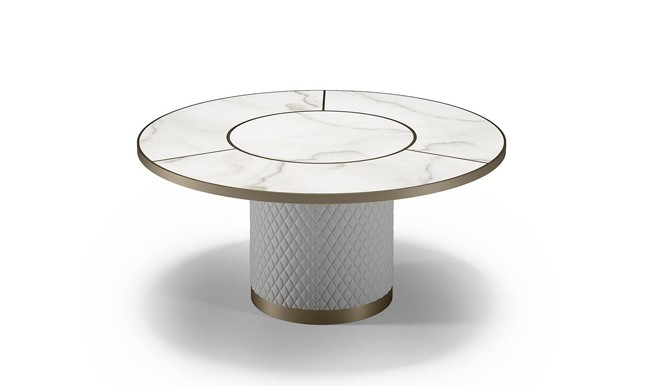 New Round Signore Degli Anelli 72 Steel Table from Reflex Angelo