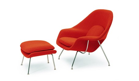 Knoll Saarinen Womb Chair and Ottoman