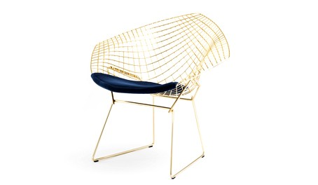 Knoll Bertoia Diamond Chair - Gold