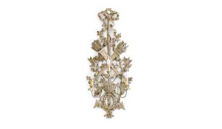 "Roberto Giovannini 3 Lights Sconce ""Trophy"" Carving 810"